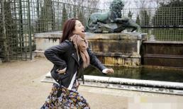 Park Shin Hye đẹp mộc mạc tung tăng trên đường phố Paris