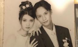 Chân dài Hạ Vy khoe ảnh cưới 15 năm trước