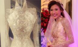 Cận áo dài cưới đẹp tinh tế của Thúy Diễm