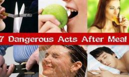 Những thói quen xấu sau khi ăn khiến bạn 'chết dần chết mòn'