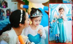 Con gái Ốc Thanh Vân hóa thành 'Nữ hoàng băng giá' trong tiệc sinh nhật