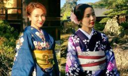 Uyên Linh và Phương Linh diện Kimono khiến fan mê mẩn