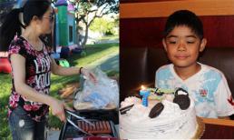 Ca sĩ Thu Phương tổ chức sinh nhật tại nhà cho con