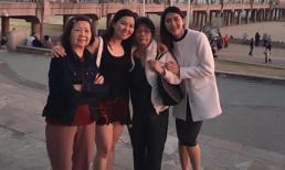 Ngọc Quyên hạnh phúc khi đi chơi với người thân ở Mỹ