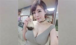 Xuất hiện hot girl trà sữa phiên bản gợi cảm khiến dân tình 'đảo điên'