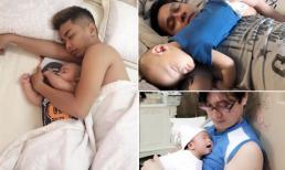 Nhóc tỳ nhà sao Việt đáng yêu khi 'say giấc nồng' trong lòng bố
