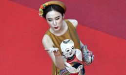 Angela Phương Trinh tạo dáng tứ phương tại thảm đỏ Cannes