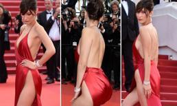 Siêu mẫu Bella Hadid mặc đồ 'hư hỏng', uốn éo như rắn trên thảm đỏ Cannes