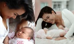 Phương Vy lần đầu khoe mặt con gái khi tròn 1 tháng tuổi