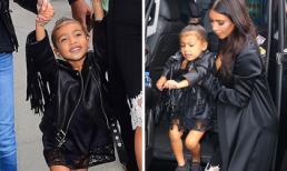 Con gái Kim Kardashian mặc cực chất đi chơi cùng bố mẹ