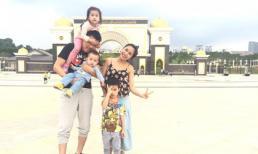 Gia đình Ốc Thanh Vân du lịch Malaysia, Singapore để mừng sinh nhật con trai