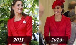 Công nương Kate mặc lại váy cũ từ 5 năm trước