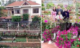 Cận cảnh 'rừng' hoa 500 m2 trong biệt thự nhà vườn ở Hạ Long