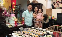 Sau tiệc sinh nhật, Trịnh Kim Chi làm lễ cúng thôi nôi cho con gái
