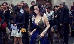 Hoa hậu Giáng My khoe vòng một căng tròn mướt mắt trên phố Paris