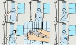 Đoán tính cách qua thói quen tắm 'chuẩn không cần chỉnh'