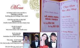 Những thực đơn trong đám cưới sao Việt 'khiến nhiều người sốc'