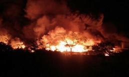 Vụ cháy kinh hoàng tại cụm công nghiệp ở Hải Phòng