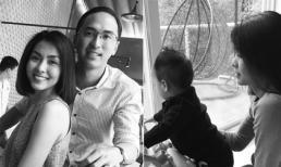 Chồng Tăng Thanh Hà bất ngờ khoe khoảnh khắc hạnh phúc của vợ con