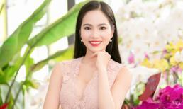 Hoa hậu Dương Kim Ánh diện váy ren xinh như công chúa