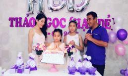 Quyền Linh tổ chức tiệc sinh nhật ngập sắc tím cho con gái thứ hai