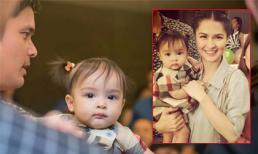Con gái 'Mỹ nhân đẹp nhất Philippines' ngơ ngác trong tiệc sinh nhật bố