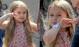 Harper khoe suối tóc vàng óng ả xinh như công chúa