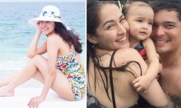 Khoảnh khắc hạnh phúc của gia đình 'Mỹ nhân đẹp nhất Philippines' khi đi nghỉ dưỡng