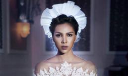 Minh Triệu diện váy cưới xuyên thấu, khoe chân dài gợi cảm