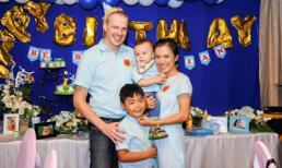 Vợ chồng Lý Thanh Thảo làm lễ thôi nôi cho con trai