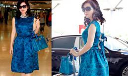 Hoa hậu Giáng My diện 'cây hàng hiệu' sang chảnh trên đất Thái