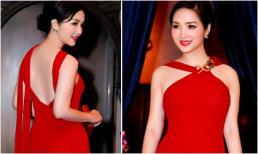 Hoa hậu Giáng My đỏ rực trở thành tâm điểm trên thảm đỏ Thái Lan