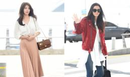 Suzy đẹp lấn át Jeon Ji Hyun khi 'đụng độ' ở sân bay
