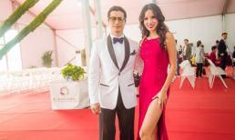 Vợ chồng Dustin Nguyễn nổi bật trên thảm đỏ Liên hoan phim Kim Kê