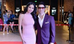 Vợ chồng BeBe Phạm và Dustin Nguyễn tình tứ đi xem phim