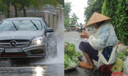 Chứng kiến bạn trai phóng ô tô làm nước bẩn bắn khắp người mẹ anh đang bán rau bên đường, cô gái đã có hành động khiến ai cũng hả hê