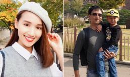 Lã Thanh Huyền xinh như thiếu nữ đi du lịch Hàn Quốc cùng chồng con