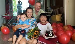 Vợ chồng Lý Thanh Thảo tổ chức tiệc sinh nhật vui vẻ cho con trai đầu