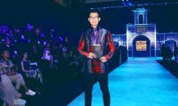 Nam vương Quốc tế Nguyễn Hải Quân lịch lãm dự show thời trang Công Trí