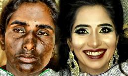 Màn make up 'thần thánh' cho người phụ nữ Ấn Độ có khuôn mặt đen như Bao Công