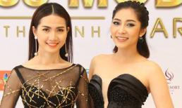 Khánh Ngân và Phan Thị Mơ diện váy xuyên thấu tham dự sự kiện