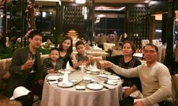 Diễn viên Lã Thanh Huyền hạnh phúc đón tuổi mới bên chồng con