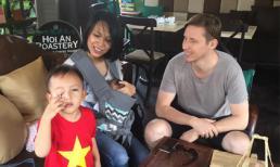 MC Thùy Minh và chồng Tây đi du lịch Hội An