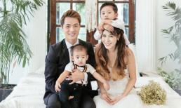 Vợ chồng Đăng Khôi hạnh phúc chụp ảnh kỷ niệm 3 năm ngày cưới