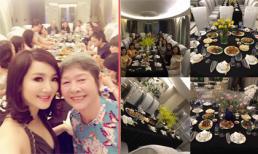 Hoa hậu Giáng My hạnh phúc bên mẹ trong tiệc sinh nhật ở biệt thự