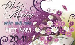 Lời chúc hay và ý nghĩa dành tặng thầy cô ngày nhà giáo Việt Nam 20/11/2016