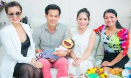 Nghệ sĩ cải lương nổi tiếng Ngọc Huyền đến dự đầy tháng con Dương Cẩm Lynh