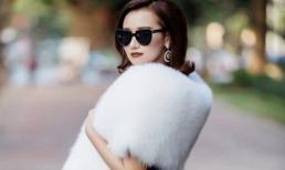 Lã Thanh Huyền làm quý cô dịu dàng xuống phố một ngày chớm đông