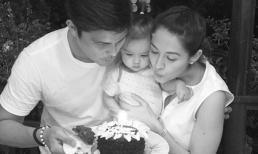 Vợ chồng mỹ nhân đẹp nhất Philippines tổ chức tiệc sinh nhật ấm áp cho con gái