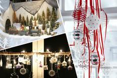 Những ý tưởng trang trí Giáng sinh cho cửa sổ đẹp lung linh
